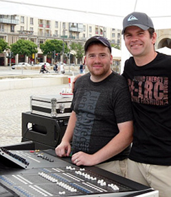 Soundtechnician Ryan Brotherton & Oliver